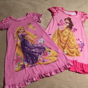 2 Disney store nightgowns size 7/8